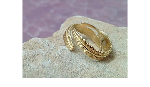 Feather Toe Ring adjustable toe ring feather jewellery feather ring 925 Sterling Silver midi ring dainty jewellery pinky ring simple