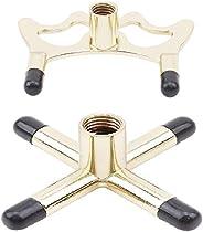 GOSONO New 2Pcs Brass Coated Metal Brass Bridge Head Pool Cue Stick Snooker Accessories Frame Pole Snooker Bil