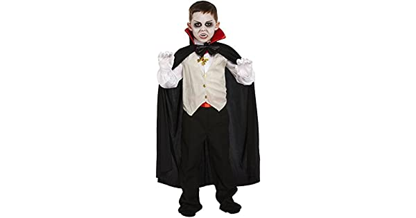 Amazon.com: Vampiro clásico disfraz Drácula niños Halloween ...
