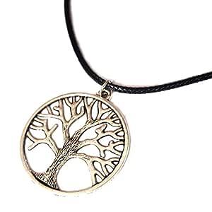 Unisex collar / Símbolo de árbol de la vida y cazador de
