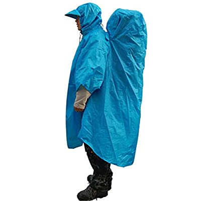 CAMTOA Backpack Tarp Rain Cover Raincoat Poncho Rain Cape For Outdoor Camping Hiking