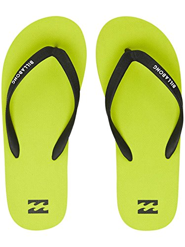 Billabong Men Lime Solid Shoes Tides Sandals PPxwFr6q