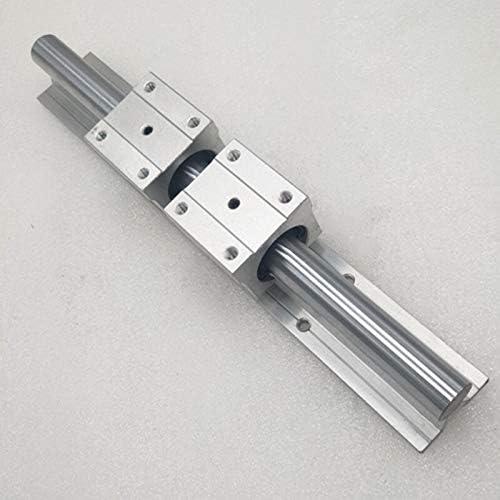 Nologo WJW-DAOGUI, 1set SBR16 16mm-Schienen-Länge 300mm 400mm 500mm 600mm Linearführung mit 2 Stück SBR16UU Set CNC-Fräser-3D-Druck Teil Linearschiene Führungs (Size : 500mm)