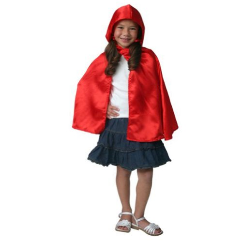 Girls Red Riding Hood Dressup Halloween Costume Little Cape Cloak -