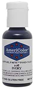Americolor Soft Gel Paste Food Color, .75-Ounce, Ivory