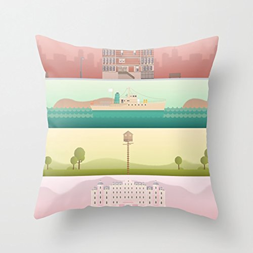 HotNewbee A Wes Anderson Collection Cushion Pillow Case with Comfortable Size for Home ()