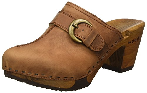 Woody Christina, Women's Clogs Brown - Braun (Tabacco)
