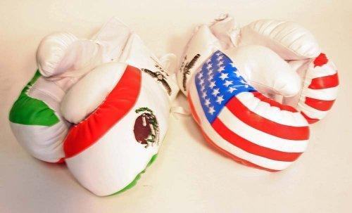 2 Paar 113,4 g Jugend Boxhandschuhe USA und Mexiko Flaggen von Shelter