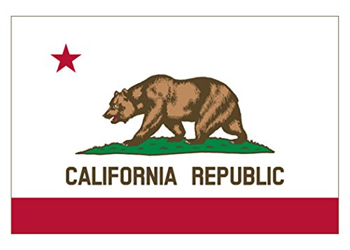 Rogue River Tactical California Sticker CA Republic State Flag Auto Car Decal Bumper Window Sticker (3x5)