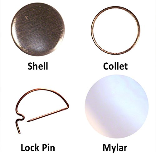 500 1' Button parts for Pin Maker / Badge Machine 1' pinback parts lot of 500 from PeoplePowerPress