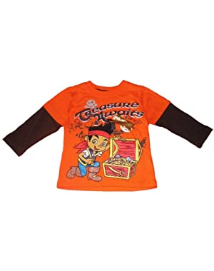 Jake and the Neverland Pirates Toddler Boys Long Sleeve Shirt Orange