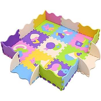 Amazon Com Tadpoles Soft Eva Foam 36 Piece Abc Playmat
