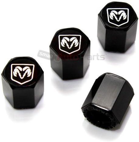 4 de Dodge RAM Plata Logo Vástago Presión de Neumáticos Negro ...