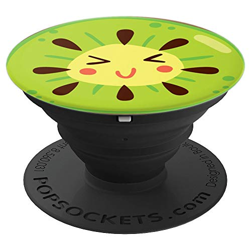 Cute Happy Kiwi - Cute Food, Fruit and Veg - PopSockets Grip and Stand for Phones and Tablets ()