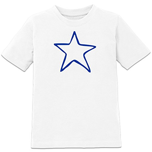 Shirtcity Star Scribble Kids' T-shirt 152-164 White (Scribble Stars)