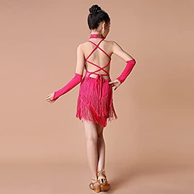 Xmiral 4Pcs Conjuntos de Ropa de Baile Latino para Niñas Vestido ...