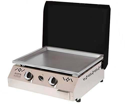 Aupa-Plancha-Two-Burner-Flattop-Gas-Grill-Green