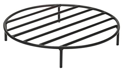 Sunnydaze Round Steel Outdoor Fire Pit Wood Grate, 22 Inch Diameter