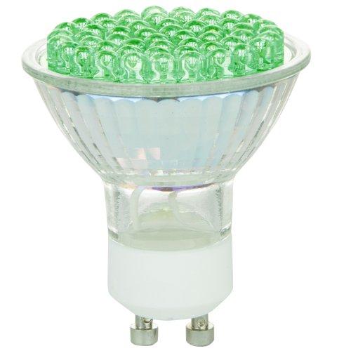 Sunlite 80209-SU MR16/54LED/2.7W/GU10/120V/G LED 120-volt 2.7-watt GU10 Based MR16 Lamp, Green