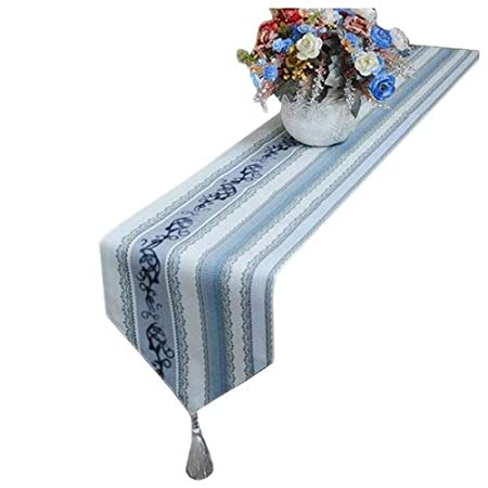 FTI-Colchonetas Azul y Gris Bandera de la Mesa Flor de Tela Tela ...
