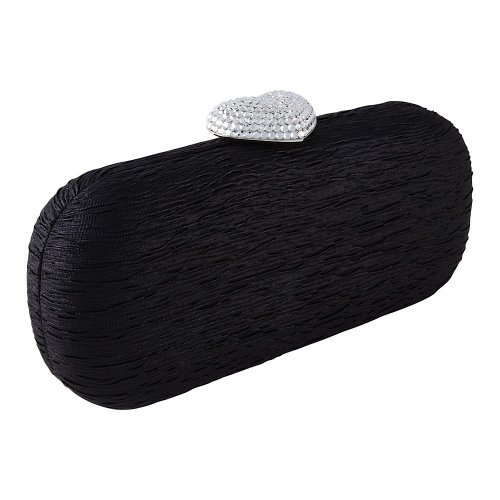 Handbag lock Carlo Clutch Fellini Kiss Women Roxanne Black Evening 41 Bag With 634 UYqzU6