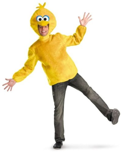 Disguise Unisex Adult Male Big Bird, Yellow, X-Large (42-46) -