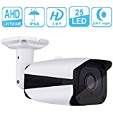 Unitech 1080p Security Bullet Camera HD TVI CVI AHD Surveillance Camera Outdoor Indoor Home CCTV Camera with Waterproof Dustproof Night Vision 3 IN 1