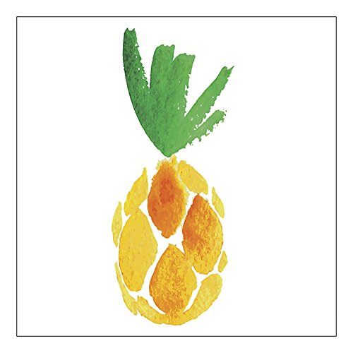Watercolor Pineapple Napkins
