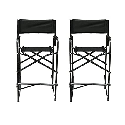 Exceptionnel Impact Canopy Directoru0027s Chair, Tall Folding Directoru0027s Chair, Heavy Duty,  Set Of 2