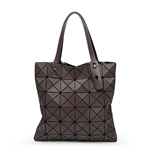 Fashion Diamond Women Bao Bags Geometry Matte Baobao Handbag Female Geometric Casual Tote Lady Shoulder Top-Handle Bag Brown
