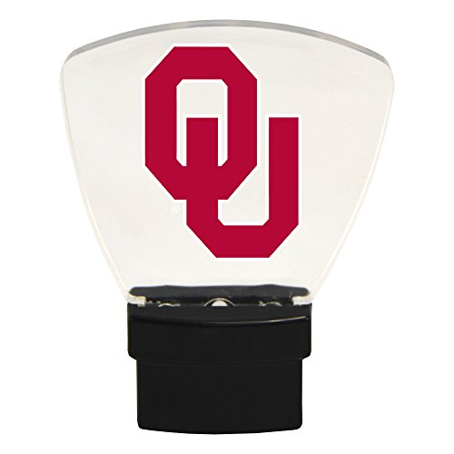 Authentic Street Signs NCAA Officially Licensed-LED NIGHT LIGHT-Super Energy Efficient-Prime Power Saving 0.5 watt, Plug In-Great Sports Fan gift for Adults-Babies-Kids Room (Oklahoma Sooners) from Authentic Street Signs