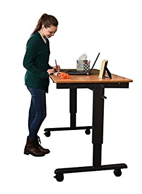 "60"" Bamboo Crank Stand Up Desk by Stand Up Desk Store"