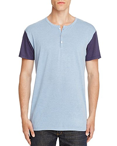 Sovereign Code Hampshire Color Block Henley Tee (Blue, M) (Tee Sovereign)