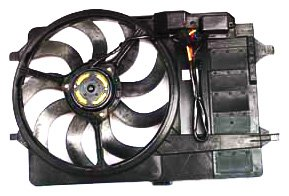 TYC 621980 Mini Cooper Replacement Radiator/Condenser Cooling Fan Assembly