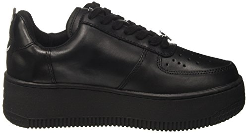 Leather Windsor Donna a Nero Alto Leather Racerr Black Smith Collo Sneaker ZfnHZSzqw