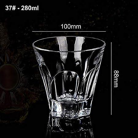 Vasos de whisky transparentes de cristal doble clásico resistente para el hogar, banquetes, restaurantes