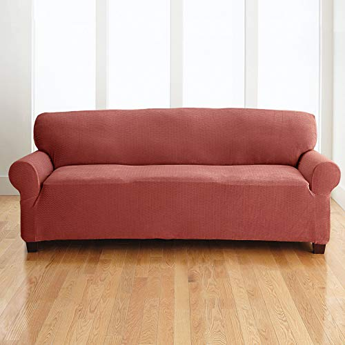 BrylaneHome Bh Studio Brighton Extra-Long Sofa Slipcover - Mauve