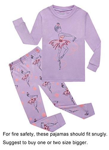 Barara King Little Girls Snug-Fit Pajamas 100% Cotton Purple Pjs Sleeper Infant Kid 5