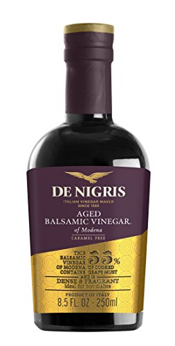 De Nigris Aged Balsamic Vinegar of Modena, 8.5 Ounce (Pack of 6) by De Nigris