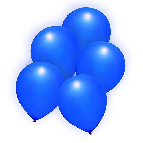 Premium LED Light-Up Balloons Party Favors Decor - Push Button Activated - 2 Flashing Modes (20 Pack/Blue) (Party City Number Balloons)