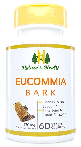 Eucommia Bark, Blood Pressure Management, Joint Health, Du Zhong, 470 Mg, 60 Veggie Capsules, Nature's - Eucommia Combination