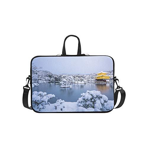 (Golden Temple in Amritsar Punjab India Pattern Briefcase Laptop Bag Messenger Shoulder Work Bag Crossbody Handbag for Business Travelling)