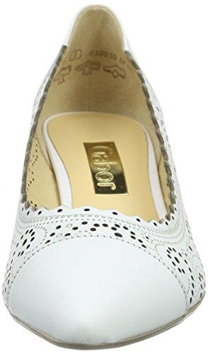 Zapatos GaborGabor 21 de Tacón Blanco weiss mujer Weiß qdvdzS