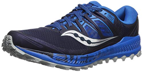 Saucony Men's Peregrine ISO Trail Running Shoe, Blue/Navy, 11 M US (Wolverine Trail Runner)