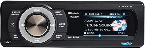 Aquatic AV AQ-MP-5UBT-HS Factory Harley Davidson Replacement AM FM Radio Satellite Radio Ready