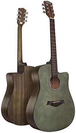 ギター スプルース単フォークアコースティックギターベニヤレトロ41インチギター 入門 ギター (Color : Natural, Size : 41 inches)