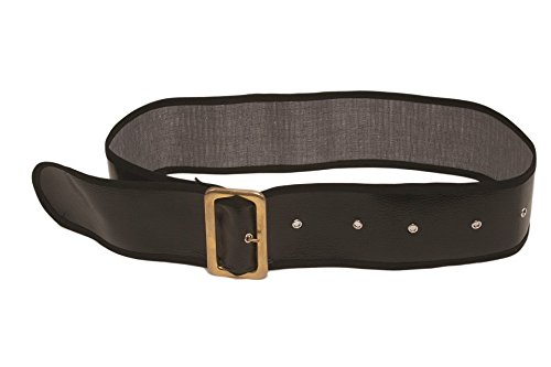 Jacobson Hat Company Men's Shiny Belt with Gold Buckle, B...