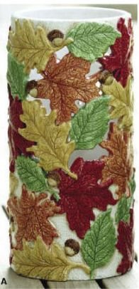 Waxcessories Ceramic Candle Cover Sleeve - Fall Foliage