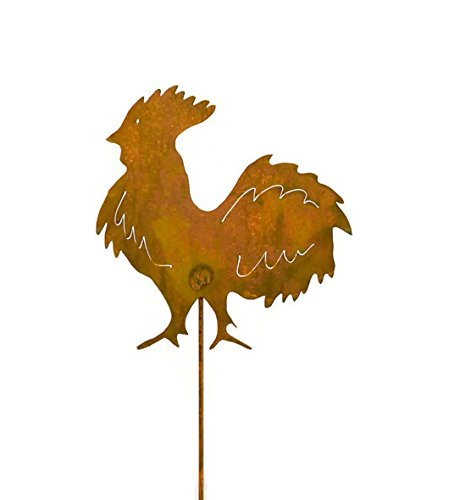Rooster Decorative Metal Garden Stake, Whimsical Yard Art!
