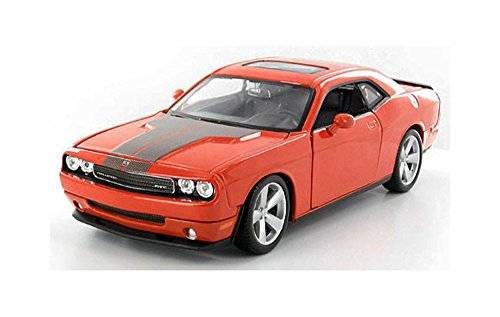 Maisto 2008 Dodge Challenger SRT8 Hard Top w/Sunroof, Orange 31280OR - 1/24 Scale Diecast Model Toy Car